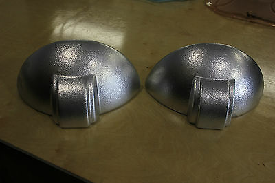 Pair French Art Deco Patinated Plaster Wall Lights/ Sconces 1940's