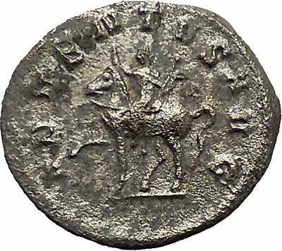 TRAJAN DECIUS on horse 250AD Authentic Rare Ancient Silver Roman Coin  i40630