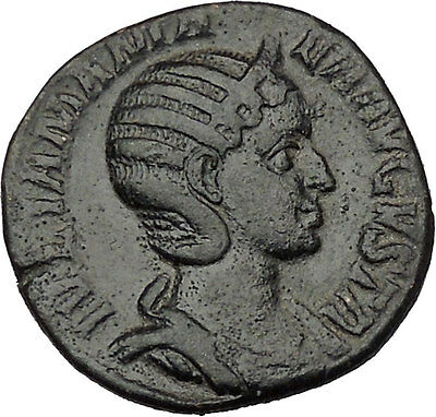 JULIA MAMAEA Sestertius Ancient Roman Coin GOOD LUCK Cult  Commerce i40657