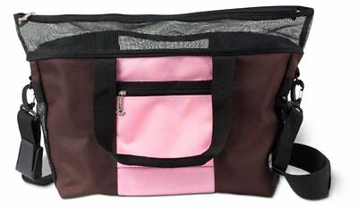 DENIER PET CARRIER - WITH CUSHION, BLANKET & TRAVEL BOWL - DOGGLES, Pink