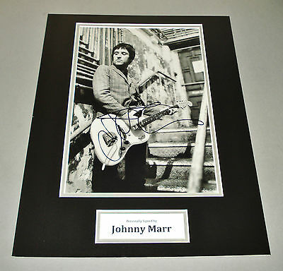 Johnny Marr Signed Photo 16x12 The Smiths Autograph Memorabilia Display + COA