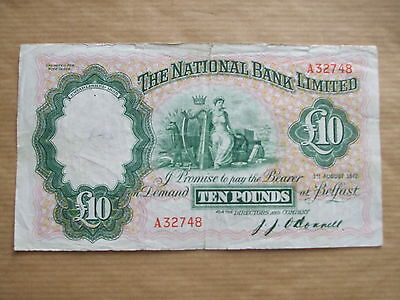 National  Bank  £10  Note, 1942.