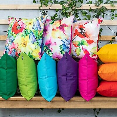 Outdoor Cushions Garden Waterproof Fabric Floral Filled Cushion Pad