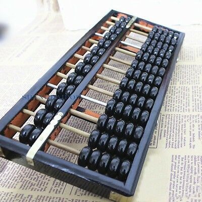 Wooden Abacus Chinese Counting Frame Calculator Soroban Learning Vintage Craft