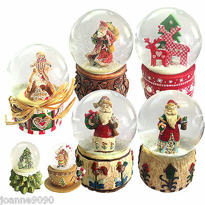 Gisela Graham Snow Globe Dome Glitter Christmas Ornament Decoration Gift Xmas