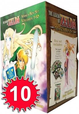 The Legend of Zelda Box Set 1-10 Manga Akira Himekawa Collection Pack