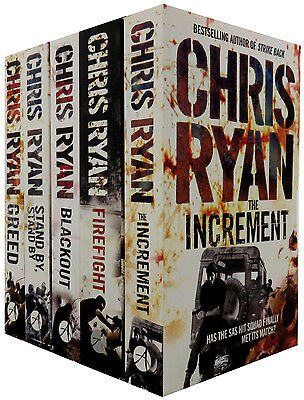 Chris Ryan Series Collection 5 Books Set , Firefight, Blackout, Greed..etc