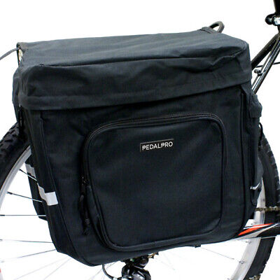 Pedalpro Bicycle/Bike/Cycle Black Twin/Double Strong Rear Pannier Bag