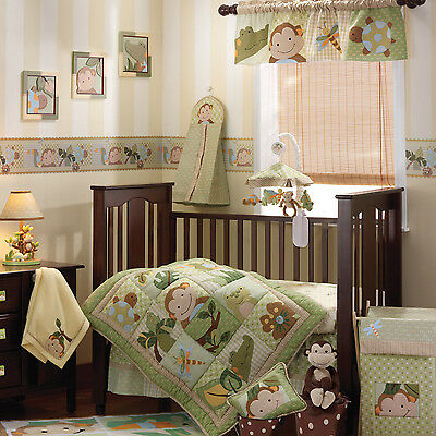 Lambs & Ivy Papagayo Jungle 5 Piece Nursery Baby Crib Bedding Set | 12005V