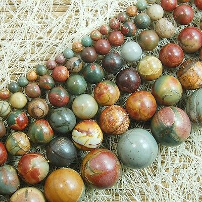 Natural Picasso Jasper Gemstone Round Beads 15.5'' Strand 4mm 6mm 8mm 10mm 12mm
