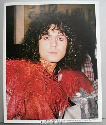 Marc Bolan T.Rex 10x8 PROMO Lithograph ~ Colour pic of Marc (boa)