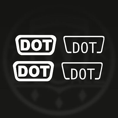 4 X D.o.t Dot Helmet Safety Decals Stickers Approved Regulation Replacement Bike