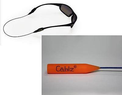 "Cablz Sunglass Retainer - 14"" Orange/Blue"