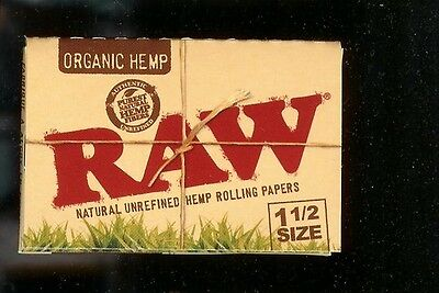 2 PACKS RAW 1 1/2 SIZE ORGANIC HEMP Natural Unrefined Cigarette Rolling Papers