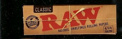 2 PACKS RAW CLASSIC 1 1/4 SIZE Natural Unrefined Cigarette Rolling Papers