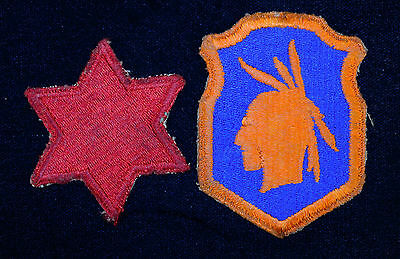 6th 98th Infantry Division Patch Original WWII WW2 Military US Army Lot of 2.