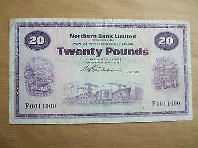 Northern  Bank  £20  Note, 1970.