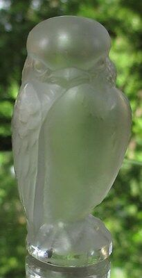 Lalique Crystal Frosted Repace Owl Seal Figurine Mint France