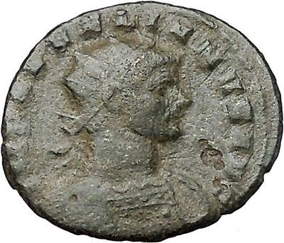 AURELIAN  274AD Authentuc Ancient Roman Coin  Fortuna Luck Cult  i40864