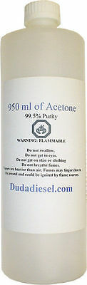 950ml Pure Acetone Industrial Nail Polish Paint Glue Remover Lab Solvent Cleaner
