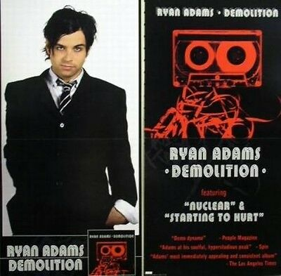 RYAN ADAMS 2002 demolition 2 sided promotional poster MINT condition N.O.S.