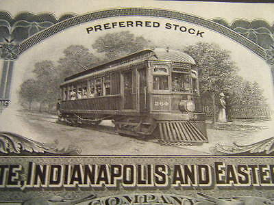Terre Haute, Indianapolis and Eastern Traction w/ AWESOME STREETCAR 100 shares !
