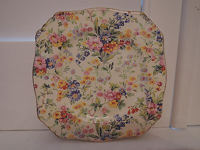 "Vintage Royal Winton Chintz Floral Feast 6"" Plate"