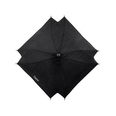 BabyStyle Oyster Parasol Sun Umbrella in Smooth Black (To Fit Oyster Pushchairs)