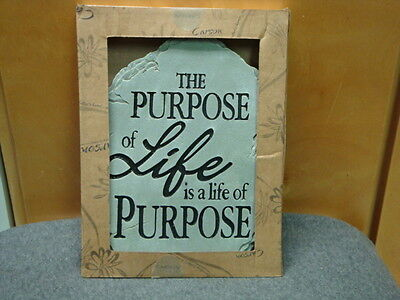 THE PURPOSE OF LIFE IS A LIFE OF PURPOSE GARDEN STEPPING STONE