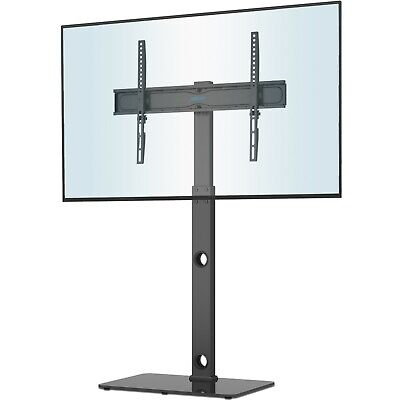"""Cantilever TV Stand with Mount Bracket Tempered Glass for 27-55"""" LCD LED Plasma"""