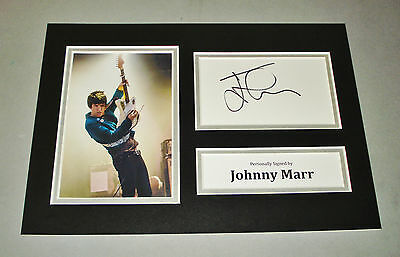 Johnny Marr Signed A4 Photo Display The Smiths Autograph Memorabilia + COA