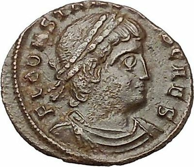 CONSTANS Gay Emperor Constantine the Great son Roman Coin Glory of army  i40926