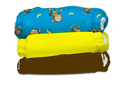 Charlie Banana 2 in 1 Eco-Friendly Hybrid Reusable Cloth Diaper One Size 3 Pack