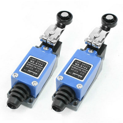 2 Pcs ME-8104 Momentary Actuator Action Rotary Roller Lever Arm Limit Switch