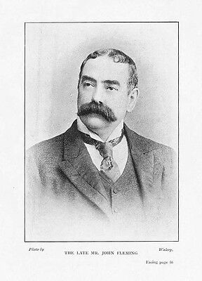 BOXING John Fleming Manager of National Sporting Club Photographic Print 1901