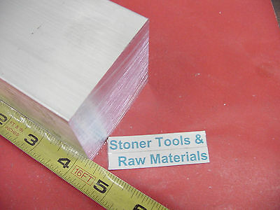 "2 Pieces 2-1/4""x 2-1/4"" ALUMINUM SQUARE 6061 SOLID BAR 4-1/4"" long T6 Mill Stock"