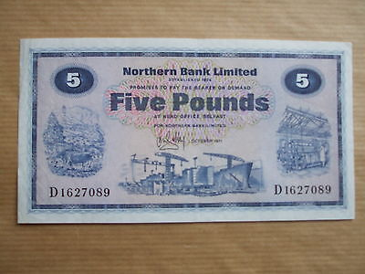 Northern  Bank  £5  Note, 1971.
