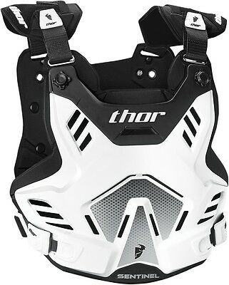 Thor Sentinel XP MX ATV Motocross Chest Roost Guard Protector White/Black