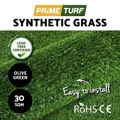 30 SQM Synthetic Artificial Grass Turf Plastic Olive Plant Fake Lawn Flooring 10