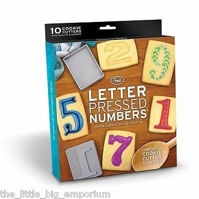 Letter Pressed Numbers Cookie Cutters & Stampers -  Moulds Baking Counting