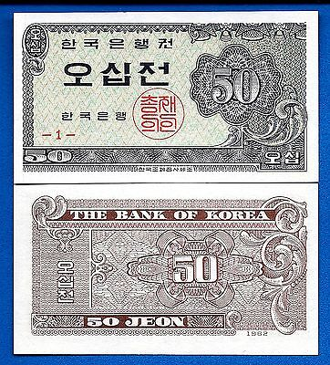 Korea South P-29, 50 Jeon Year 1962 Uncirculated FREE SHIPPING
