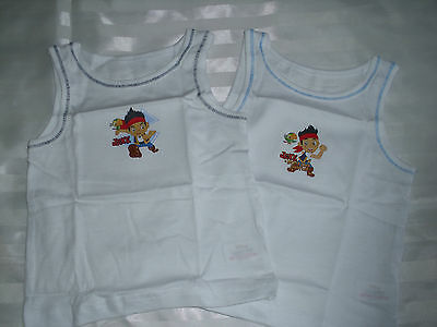 2 Pack Disney Jake & The Neverland Pirates Vests Underwear 18-24m up to 4-5 PJ33