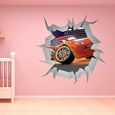 New cars mcqueen wall sticker children kids for Disney cars large wall mural