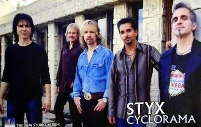 STYX cyclorama 2003 promotional poster ~MINT~!!