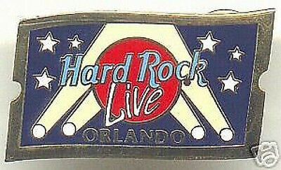 Hard Rock Cafe Live! ORLANDO Event TICKET Stub PIN PINS