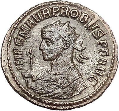 Probus  281AD  Authentic RARE Ancient  Roman Coin Mars War God    i40979