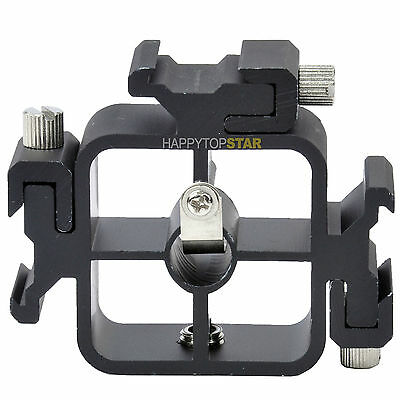 Three 3 Hot Shoe Mount Adapter Flash Holder Bracket Stand with 3/8''-1/4'' Screw