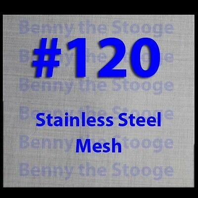 """8""""x8"""" 120 MESH / 125 MICRON WOVEN WIRE MESH STAINLESS STEEL FILTRATION GRADE"""