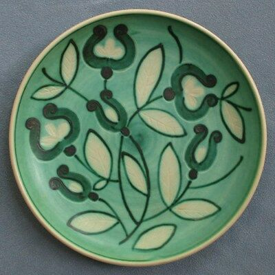 Huge Ornate Pottery Deep Plate or Bowl - Made in Finland