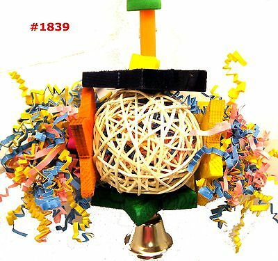 1839 FORAGING STAR BIRD TOY parrot cage toys cages shred cockatiel african grey